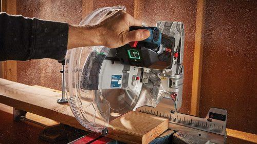 man operating a Metabo HPT C12FDHS