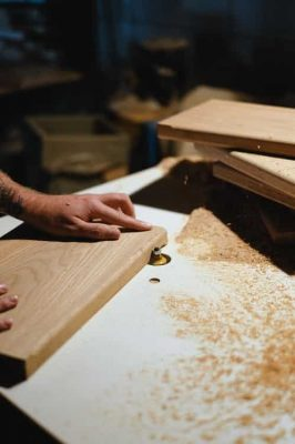 wood on table