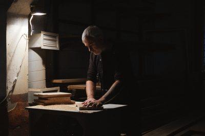 man in his shop