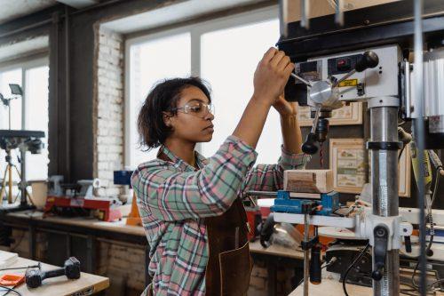 woman wood woking work
