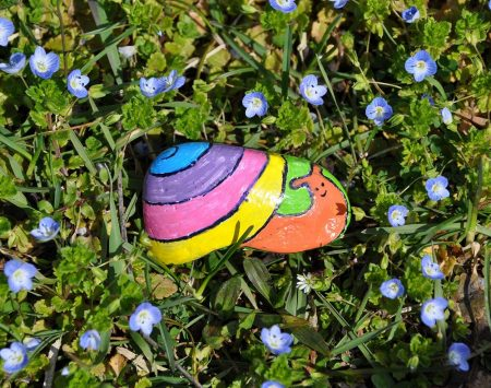rock project from the Creativity for Kids Hide & Seek Rock Painting Kit