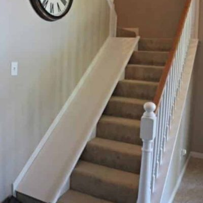 removeable stair slide