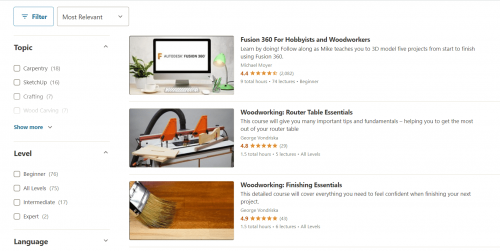 Udemy Woodworking Classes