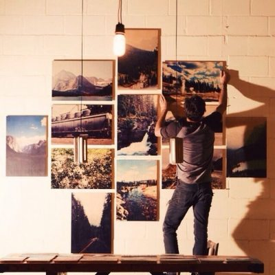 WoodSnap wood print photos on wall
