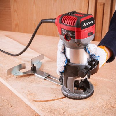 Avid Power 6.5-Amp 1.25 HP Compact Router with wood