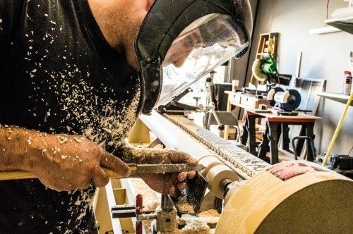 woodworker working in shop